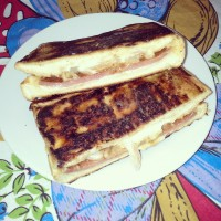 Amazing grilled cheese sandwich