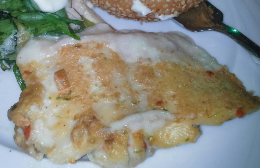 Fish done in cream and herbs