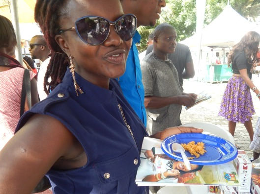 Yemisi enjoying Mama Sunday Easy Mealz