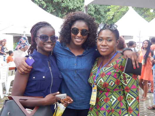 R-L Funke, member of the organising team, her sister and Yemisi