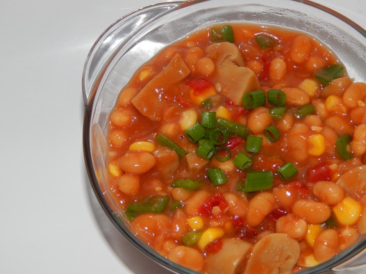 Warm Baked Beans Salad