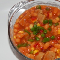 Warm Baked Beans Salad