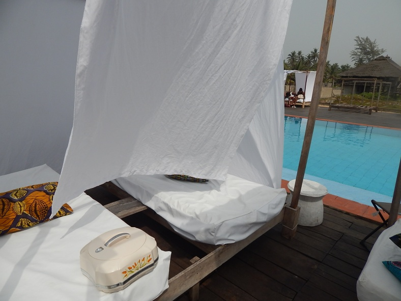 Our poolside beds