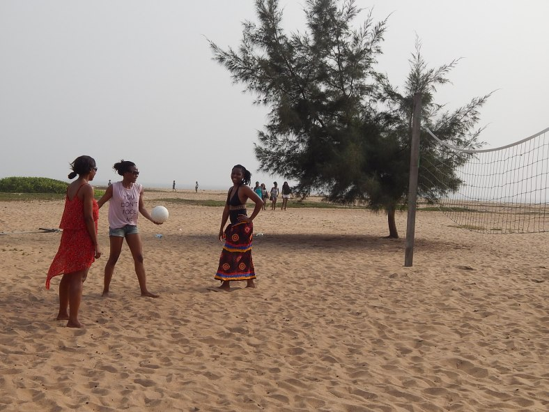 Played beach volley ball