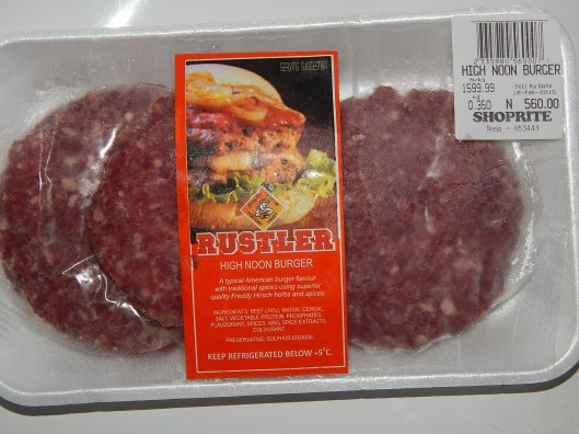 Ready made burger meat