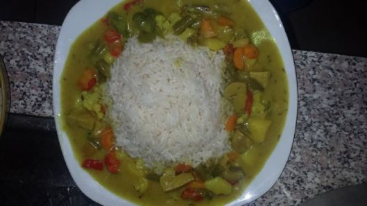 Eniola made Vegetable Curry